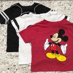 Disney Mickey Mouse Lot of 3 Toddler Tees